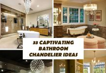 33 Captivating Bathroom Chandelier Ideas