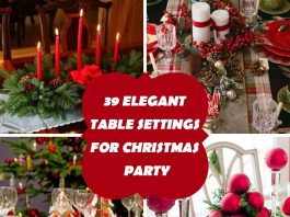 39 Table Settings For Christmas Party