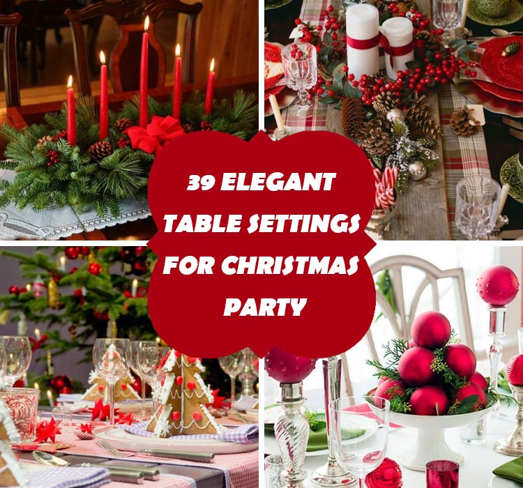 Table Settings For Christmas & 39 Elegant Table Settings For Christmas Party | Homeoholic