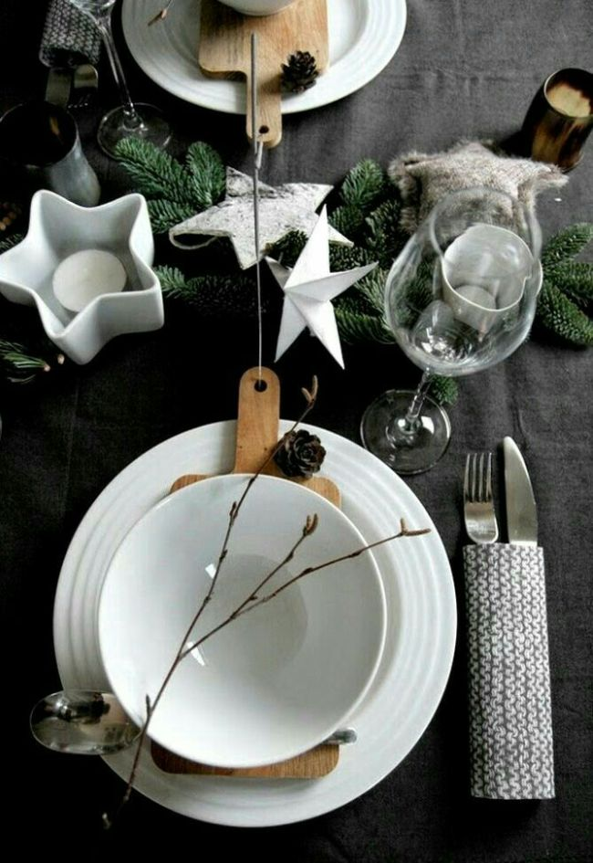 black and white christmas table decor christmas table decoration ideas