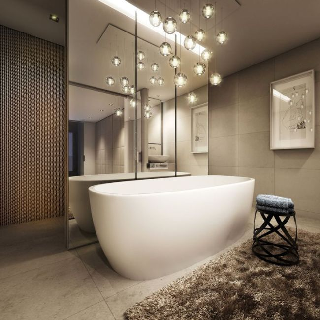 33 captivating bathroom chandelier ideas homeoholic contemporary chandelier design chandeliers for bathroom aloadofball Image collections