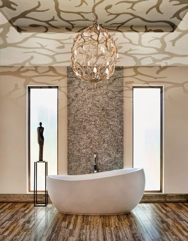33 Captivating Bathroom Chandelier Ideas | Homeoholic