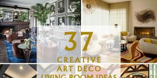 37 Creative Art Deco Living Room Ideas