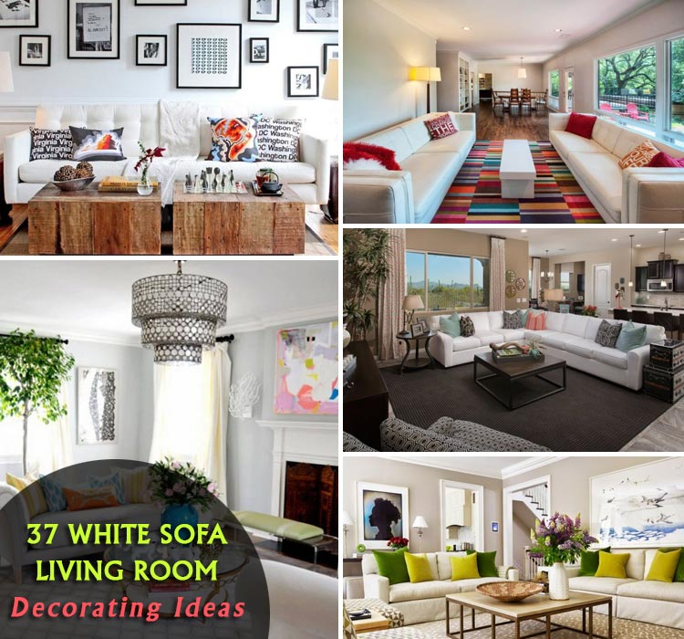 Decorating Ideas Elegant Living Rooms: 37 Elegant White Sofa Living Room Decorating Ideas