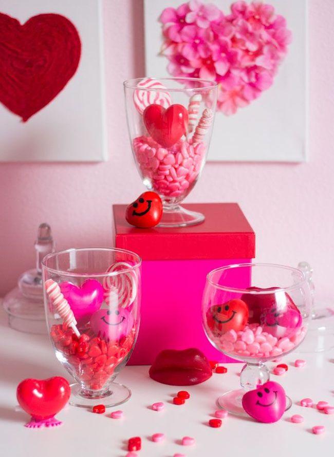 Candy terrarium centerpieces