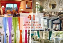 41 Graceful Living Room Curtain Ideas