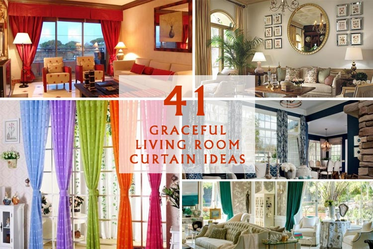 41 Graceful Living Room Curtain Ideas Homeoholic