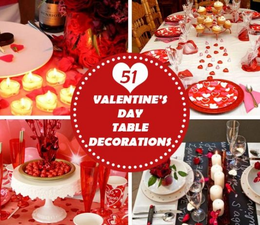 51 Adorable Valentine's Day Table Decorations