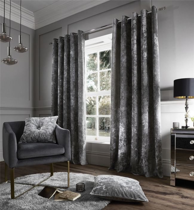 grey curtains living room grey crushed velvet curtain homeoholic 16232