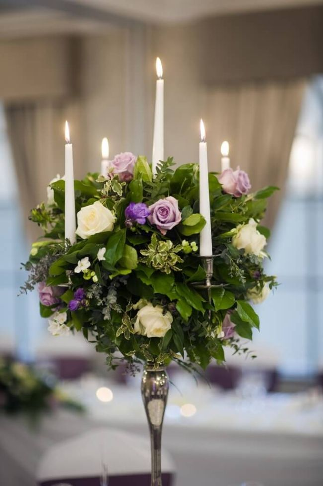 Flower Candle Centerpieces