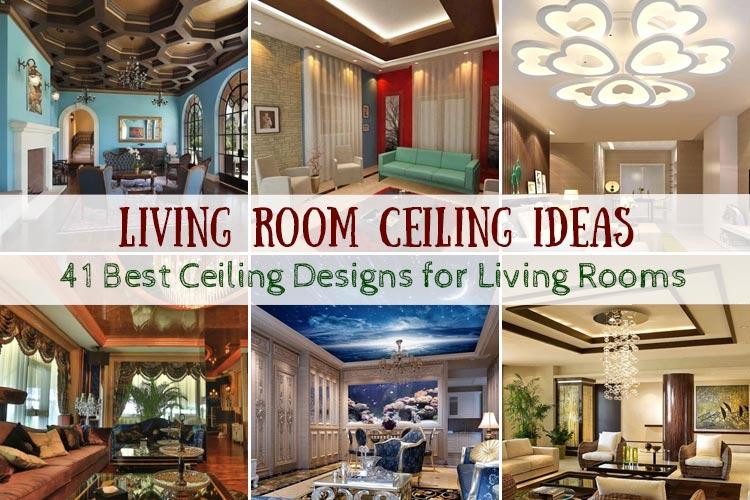 41 Wonderful Living Room Ceiling Ideas