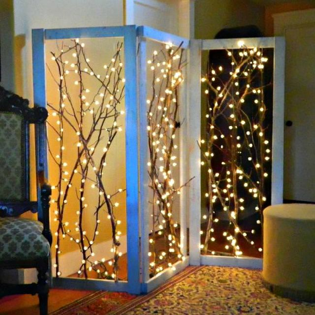 Twinkling Branches Room Dividers